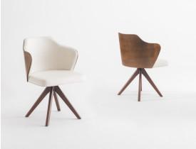Cadeira-jantar-giratória-laminada-estofada-alta decoração-design