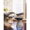 conjunto-platner-mesa-jantar-cadeira-inox-polido
